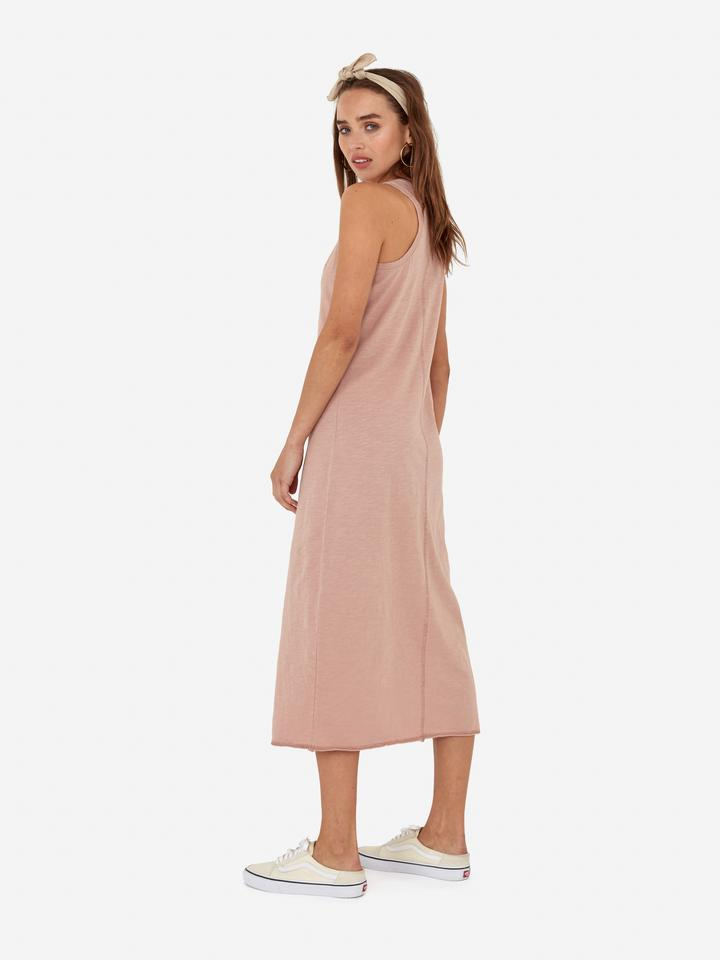 Avery midi dress rose mate the label back view