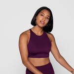 girlfriend collective Topanga Bra in plum