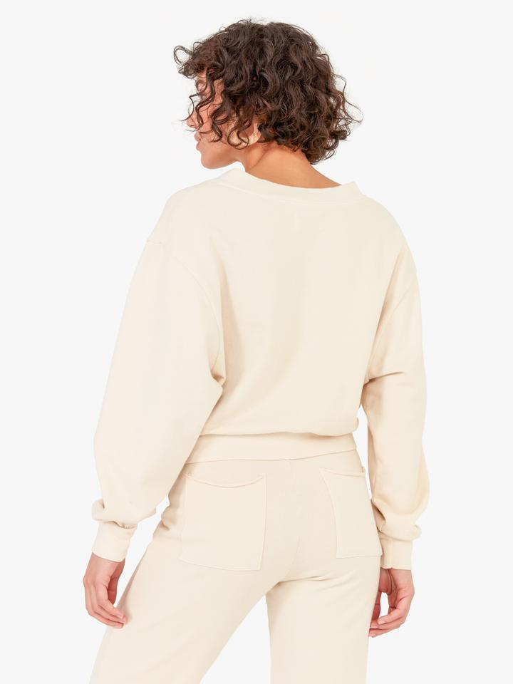 mate the label Dylan sweater in bone back view