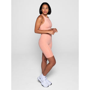 Girlfriend Collective High-Rise Bike Short in Sherbert