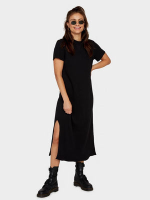 mate the label Layla thermal dress in jet black
