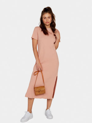 mate the label Layla thermal dress in pale pink