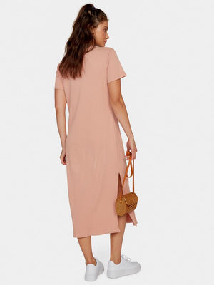 mate the label Layla thermal dress in pale pink back