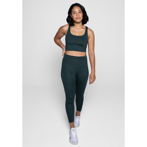 Girlfriend Collective High rise compressive legging in moss