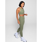 Girlfriend Collective High Rise compressive legging in olive