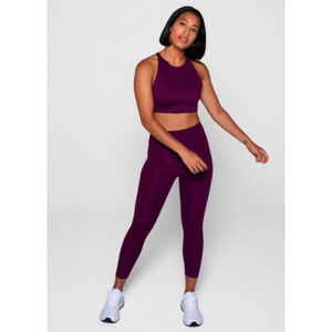 Girlfriend Collective high rise compressive leggings in plum