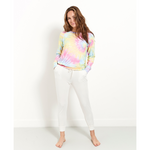stripe and stare tie dye sweatshirt