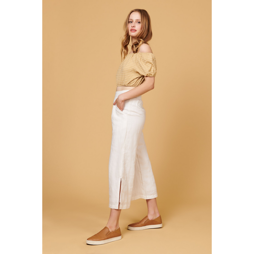 whimsy and row Valentina pants in white linen