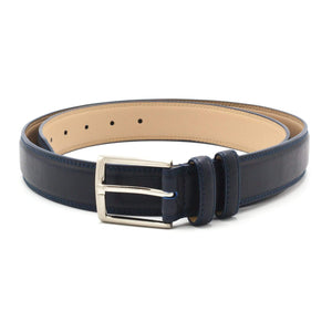 STACY ADAMS BELT NAVY