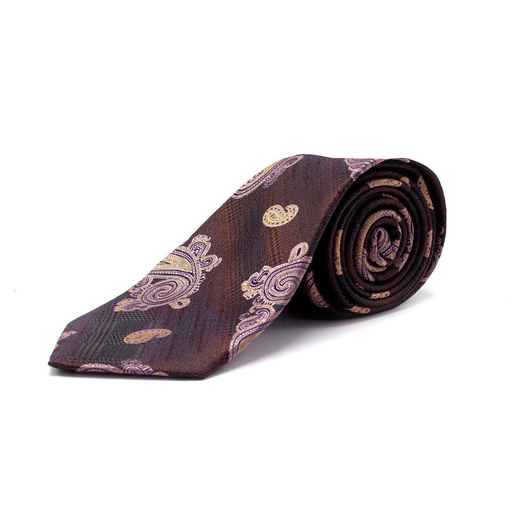 STACY ADAMS PAISLEY BURGUNDY TIE SET