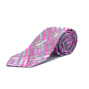 STACY ADAMS PINK & GREY TIE SET
