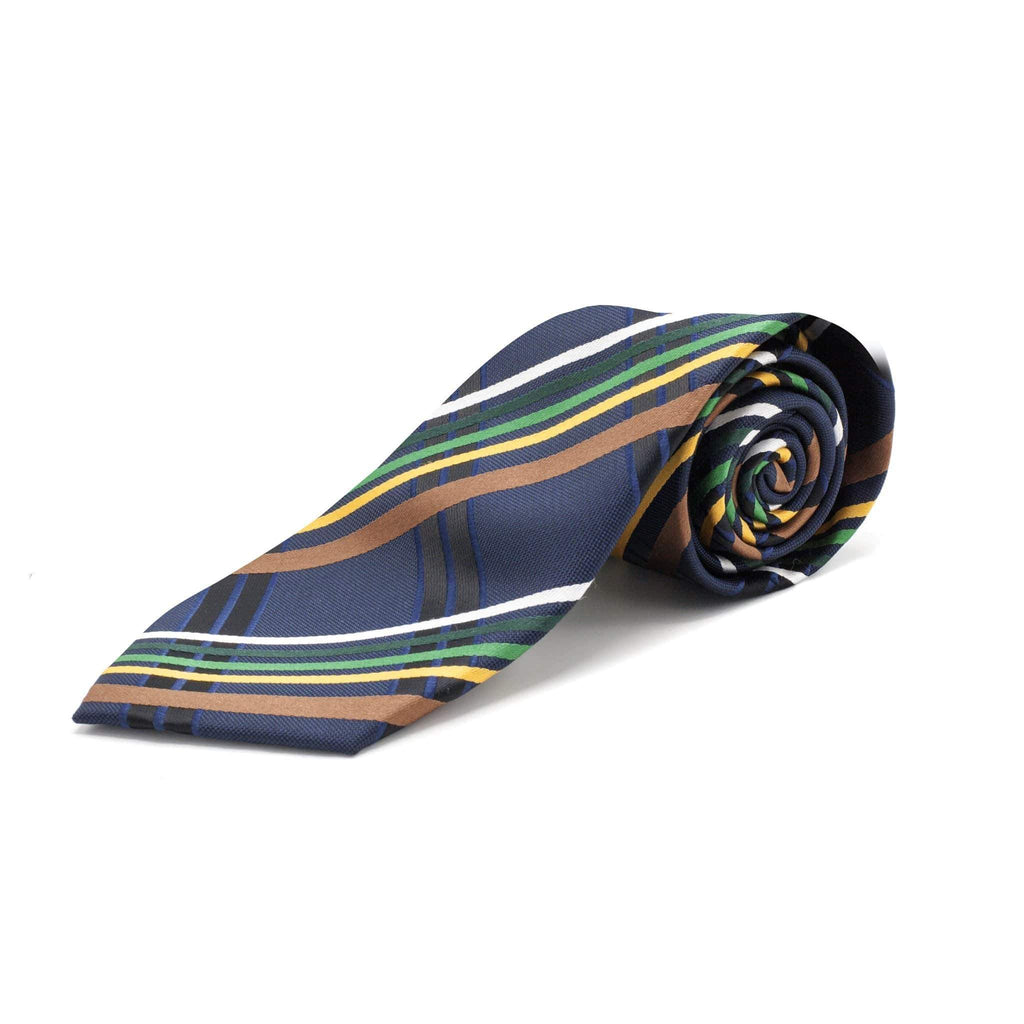 VITARELLI STRIPE NAVY TIE SET