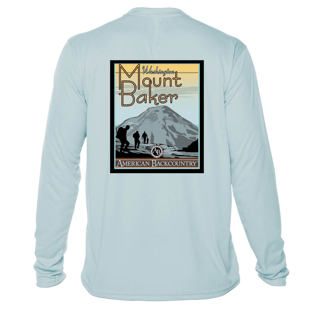 Mount Baker Vintage Destinations Long Sleeve Men's Microfiber Men's T-Shirt