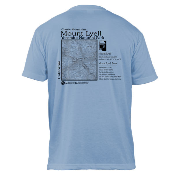 Mount Lyell Classic Mountain Basic Crew T-Shirt
