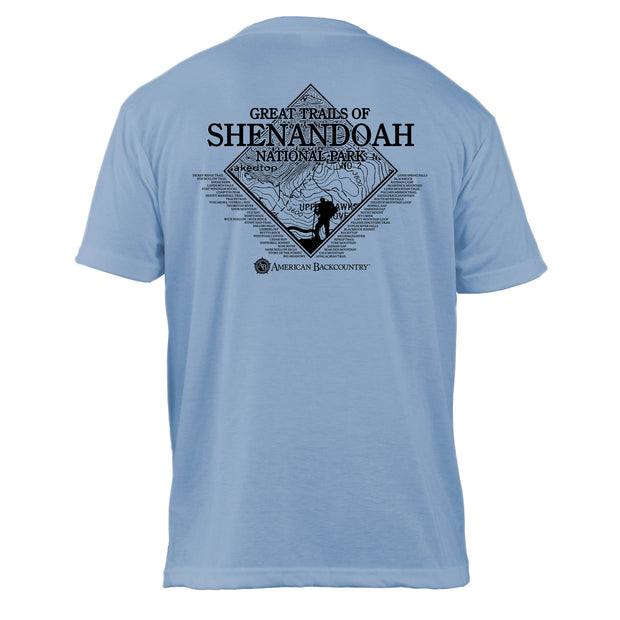 Shenandoah National Park Diamond Topo Basic Crew T-Shirt