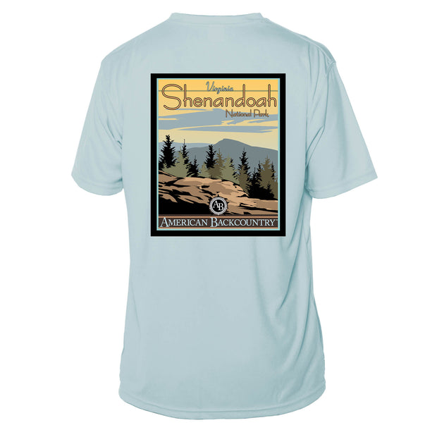 Shenandoah National Park Vintage Destinations Short Sleeve Microfiber Men's T-Shirt