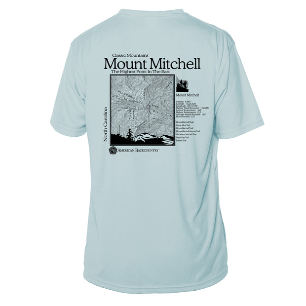 Mount Mitchell Classic Mountain Short Sleeve Microfiber Men's T-Shirt