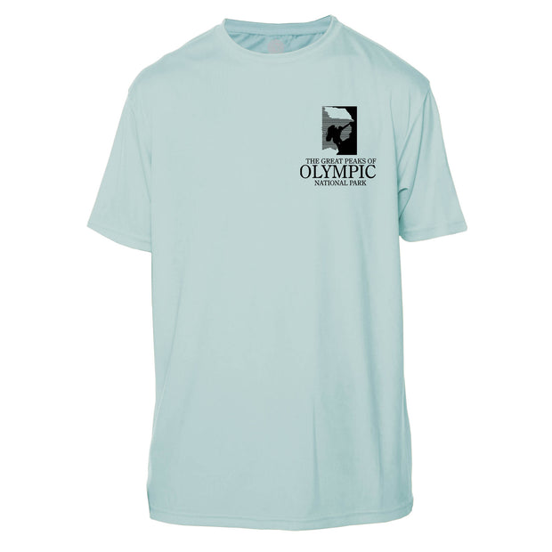 Diamond Topo Olympic National Park Short Sleeve Microfiber Men's T-Shirt