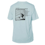 Arches National Park Great Trails Short Sleeve Microfiber Men's T-Shirt