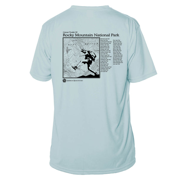 Rocky Mountain National Park Great Trails Short Sleeve Microfiber Men's T-Shirt
