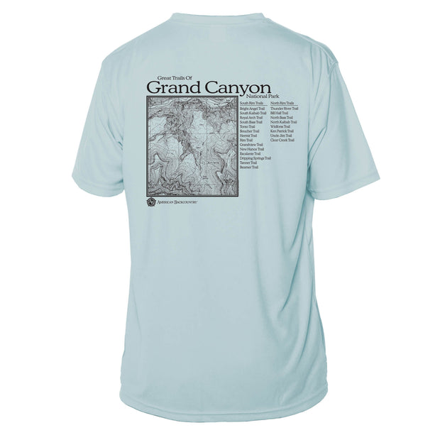 Grand Canyon National Park Great Trails Short Sleeve Microfiber Men's T-Shirt