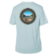 Retro Compass Acadia National Park Microfiber Short Sleeve T-Shirt