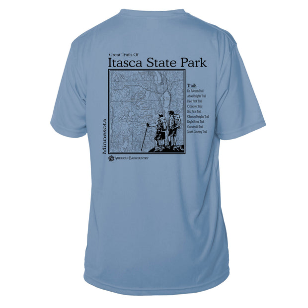 Itasca State Park Great Trails Short Sleeve Microfiber Men's T-Shirt