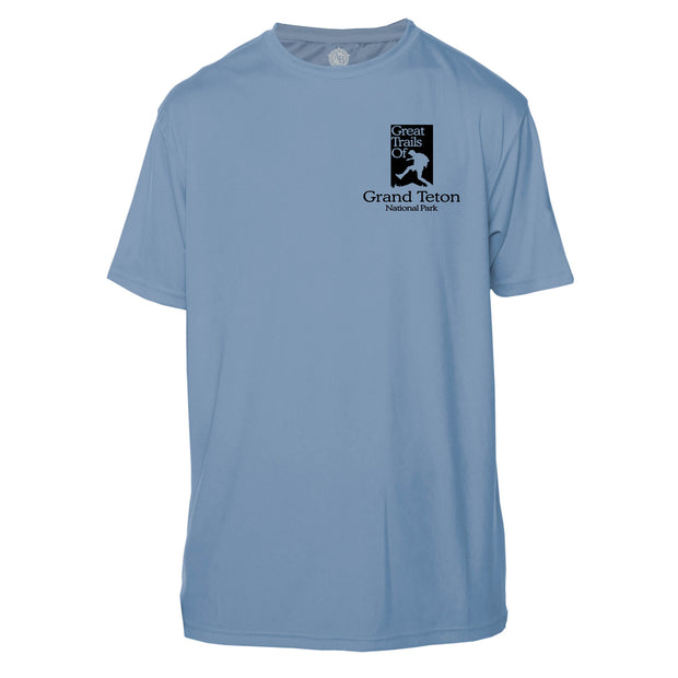 Grand Teton National Park Great Trails Short Sleeve Microfiber Men's T-Shirt