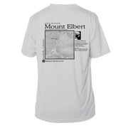 Mount Elbert Classic Mountain Short Sleeve Microfiber Men's T-Shirt