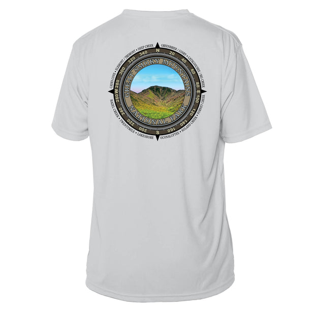 Retro Compass Great Smoky Mountains Microfiber Short Sleeve T-Shirt