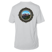 Retro Compass Olympic National Park Microfiber Short Sleeve T-Shirt