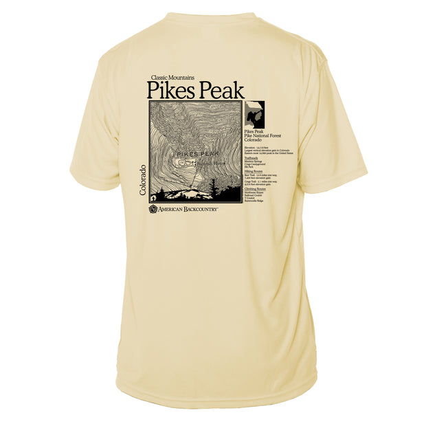 Pikes Peak Classic Mountain Short Sleeve Microfiber Men's T-Shirt