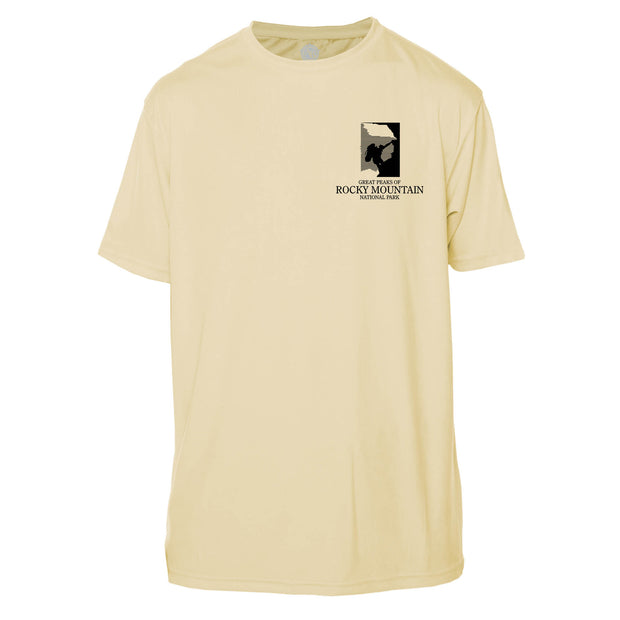 Rocky Mountain National Park Diamond Topo Short Sleeve Microfiber Men's T-Shirt