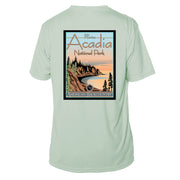 Acadia National Park Vintage Destinations Short Sleeve Microfiber Men's T-Shirt