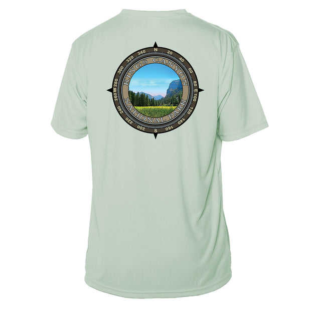 Retro Compass Kings Canyon National Park Microfiber Short Sleeve T-Shirt