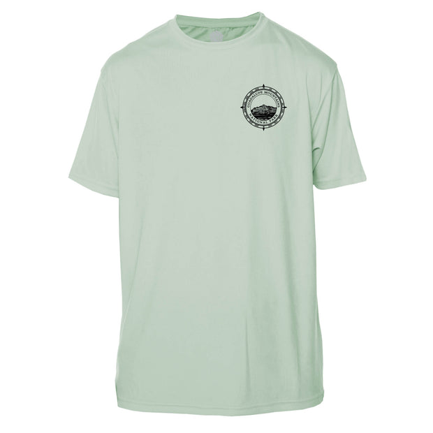 Retro Compass Guadalupe Mountains Microfiber Short Sleeve T-Shirt