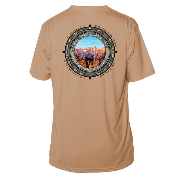 Retro Compass Mount Whitney Microfiber Short Sleeve T-Shirt