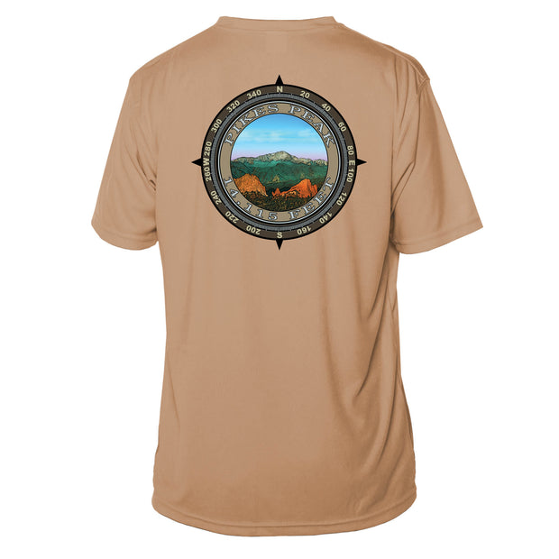 Retro Compass Pikes Peak Microfiber Short Sleeve T-Shirt
