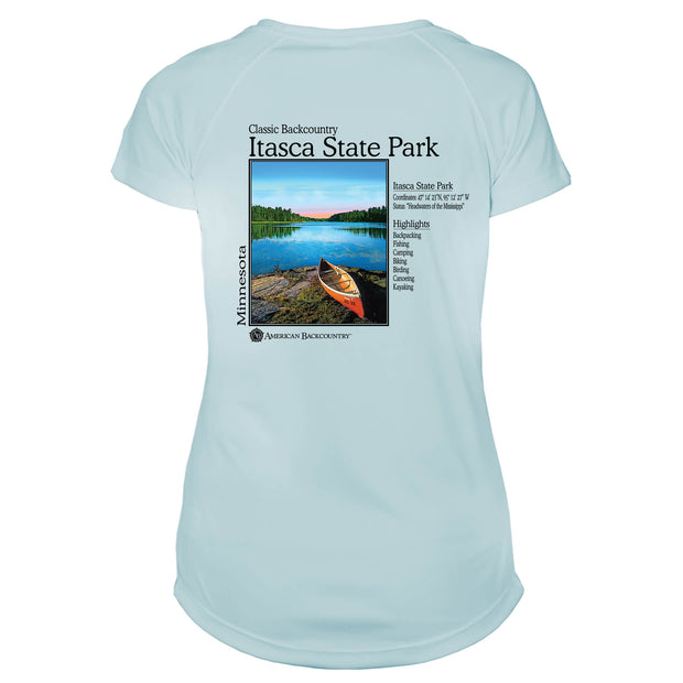 Itasca State Park Classic Backcountry Microfiber Women's T-Shirt
