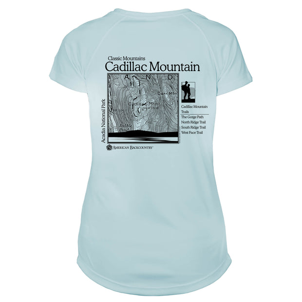 Cadillac Mountain Classic Mountain Microfiber Women's T-Shirt