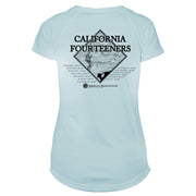 California Fourteeners Diamond Topo  Microfiber Women's T-Shirt