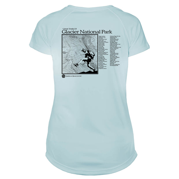 Glacier National Park Great Trails Microfiber Women's T-Shirt