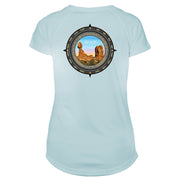 Retro Compass Arches National Park Microfiber Short Sleeve Women's T-Shirt