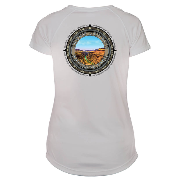 Retro Compass Grand Canyon National Park Microfiber Short Sleeve Women's T-Shirt