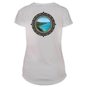 Retro Compass Pictured Rock Microfiber Short Sleeve Women's T-Shirt