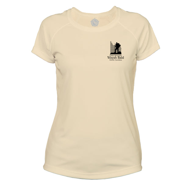 Wayah Bald Classic Mountain Microfiber Women's T-Shirt