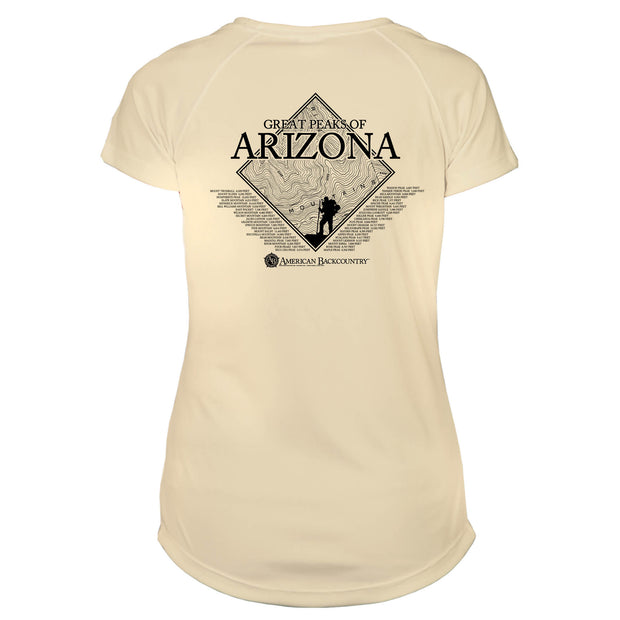 Arizona Diamond Topo  Microfiber Women's T-Shirt