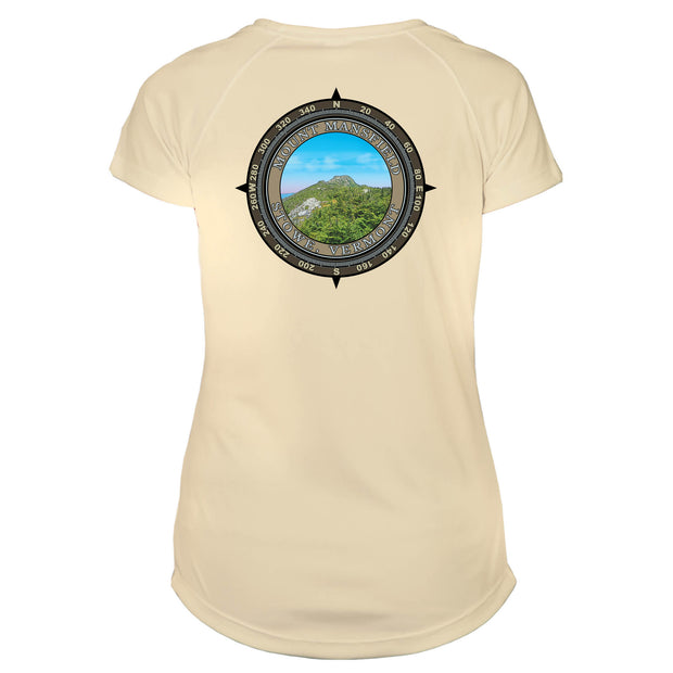 Retro Compass Mount Mansfield Microfiber Short Sleeve Women's T-Shirt