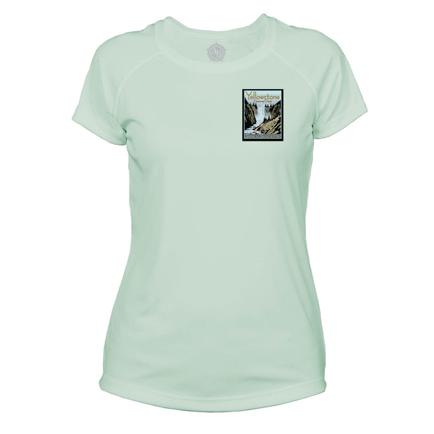 Yellowstone National Park Vintage Destinations Microfiber Women's T-Shirt