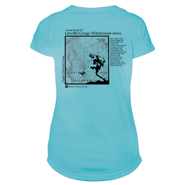 Linville Gorge Great Trails Microfiber Women's T-Shirt